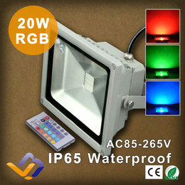 Wholesale Advertising Landscaping - Wholesale- 20W RGB Led Floodlight Waterproof Flood Light Outdoor Lighting Street Lighting Gardan landscape Lighting Advertising Flood Lamp