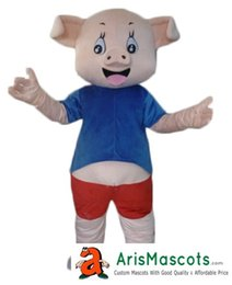 Wholesale Mascotte Pig - 100% real photos cute Pig mascot costume outfit dress custom animal mascots advertising customized mascotte