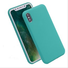 Wholesale Apple Matting - For iphone x case Ultrathin jelly Candy solid color Matting cases Dull polish grinding TPU Cover for iphone 5 5S SE 6S 7 plus iphone 8 2017