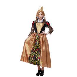 Wholesale Noble Women Costumes - Shanghai story Ornate Rabbit Queen princess costumes, women noble queen cosplay costumes, adult halloween costume for 155-175cm