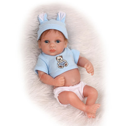 Wholesale Baby Reborn Girl - 25cm Full body silicone reborn baby dolls toy for kids lifelike mini newborn boy bibies bath shower toy high-end borthday gift