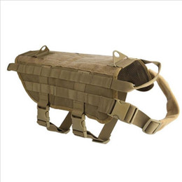 Wholesale Dog Tactical Vest - Chic Tactical Military Dog Vest Harness Molle Use Canine Training Vest Outdoor Wear Plus Size KT059