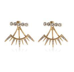 Mode Oreille Vestes Bijoux De Cils Style Oreille Wraps Plaqué Or Strass Dos Suspendu Boucles D'oreilles Oreille Vestes ? partir de fabricateur