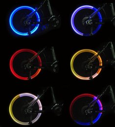 Wholesale Led Light Valve Caps Colorful - LED Flash Tyre Bike Wheel Valve Cap Light Car Bicycle Motorbicycle Wheel Tire Light Colorful cycling accessories fluorescent rod wheel tire
