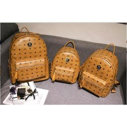 Wholesale Bag Punk Style - Free Shipping 2017 hot New Arrival Fashion Women School Bags Hot Punk style Men Backpack designer Backpack PU Leather Lady Bags