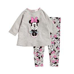 Wholesale Duck Sets - cute baby kids pajamas set lovely cartoon minnie daisy duck sleepwear set for 1-8yrs children boys girls underwear night clothes