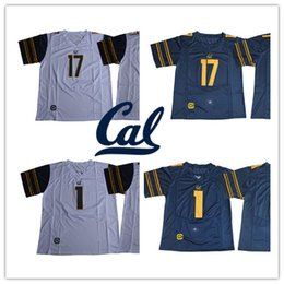 Wholesale Football Bearing - Mens NCAA #1 Melquise Stovall California Golden Bears College Football Stitched navy blue white #17 Vic Wharton III Cal jerseys S-3XL