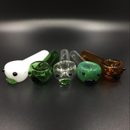 Wholesale Pyrex Glass Blowing - Smoking Blown Glass Hand Pipes Cheap Pyrex Glass Tobacco Spoon Pipes Mini Small Bowl Pipe Unique Pot Pipes Smoking Pieces
