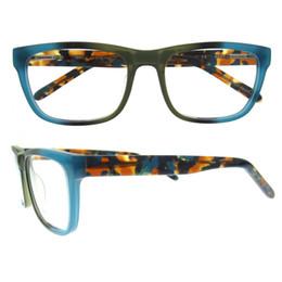 Wholesale Designer Optical Eyewear - NO MOQ top quality stylish brand designer men women acetate full-rim grey demi multicolor optical fashion eyewear