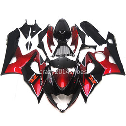 Wholesale Fairing Kits - 5 free gifts New ABS motorcycle Fairing Kits 100% Fit For SUZUKI GSXR1000 K5 2005-2006 GSXR 1000 K5 05-06 nice black and red nice 192