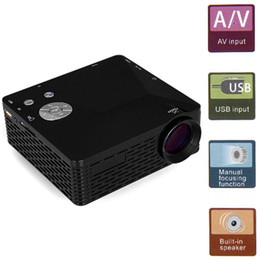 Wholesale Hdmi 18 - Wholesale-Mini LED Projector BL-18 Portable Pico Projektor 60Lumen Full HD Proyectores AV VGA SD USB HDMI Video Proyector Beamer Projector