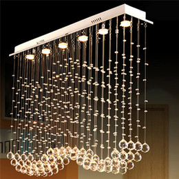Wholesale K9 Crystals Design - Modern Design LED Curtain Wave K9 Luxury Crystal Ceiling Chandeliers Contemporary Foyer Lights Lamps Decoration Lighting