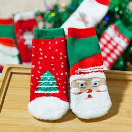 Wholesale Thick Cotton Socks For Kids - Winter Warm Thick Socks for Kids, Cute Christmas Cartoon Tube Sock for Gift, Cotton Made High Quality Baby Socks