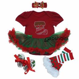 Wholesale Colour Shoes White Dress - Wholesale- Autumn Baby Girl Party Dress Christmas Newborn Clothing Headband Set Shoe Rhinestone Infantil Menina Dress Set 1year Xmas Outfit