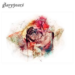 Wholesale Flower Rose Tattoos - Wholesale- New 1pc DIY Body Art Temporary Tattoo KM-084 Colorful Drawing Retro Rose Flower Decal Waterproof Tattoo Sticker for Women Makeup