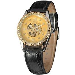 34bfa427bdb4 Ganador Nuevo Diseño Hollow Relojes Mecánicos Manuales Relojes De Cuero  Para Hombres Top Marca De Lujo Montre Homme Reloj Hombres Reloj Esqueleto  Automático ...