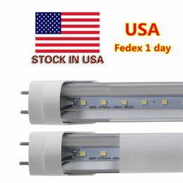 Remplacement des ampoules fluorescentes en Ligne-Stocké aux Etats-Unis T8 LED Tube Lumière 22W 4ft 1200mm remplacer ampoule led fluorescente SMD2835 AC110-277V UL DLC CE FCC livraison gratuite 100+