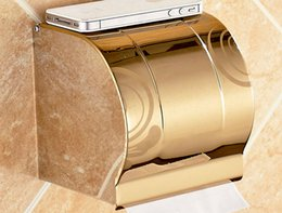 Wholesale A2 Paper - A2 Bathroom Hardware Toilet paper towel box, stainless steell holder toilet gold paper holder tissue box Bathroom Accessories ba
