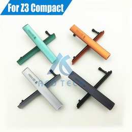 Wholesale Sd Card Compact - 100% Original New USB Charging Port Cover +Sim Card SD Port Slot Dust Plug For Sony Xperia Z3 mini Z3 Compact M55W