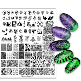 Wholesale Stamping Image Plates - Exclusive Nail Stamping Plate Super Large 17*21cm Little Monster Flower Skull Image Stamp Template Manicure Nails Beauty 2017