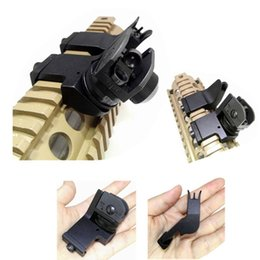 Wholesale Iron 45 - FIRECLUB Tactical Hunting Flip Up Front Rear 45 Degree Adjustable Rapid Transition Backup Iron Sight Set High Quality