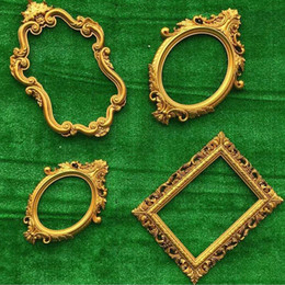 Wholesale Gold Stage Props - 4pcs set Vintage European Style Carved Wedding Photo Frame Photography Props Party Stage Wall Luxury Decoration Ornament ZA3925