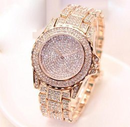 Wholesale Imitation Designer Watches - Super Luxury Famous designer women rhinestone watches fashion luxury Dress Michael ladies watch Imitation Conch Dial Ma'am Watches wholesale