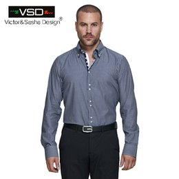 Wholesale Shirt Camicie - Wholesale- Italian Spring Slim Fit Men Shirts 7 Camicie Style striped Men's Shirt Long Sleeve Plus Size Euro Size Homme camiseta masculina