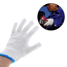 Trabalhando luvas de algodão on-line-10 pares de Luvas de Segurança de Algodão Econômico Luva de Trabalho Luvas Resistentes Ao Desgaste Luvas de Algodão Branco para as Mãos de Proteção frete grátis