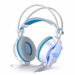Wholesale Surround Sound Gaming Headphones - G7000 7.1 USB Surround Sound Gaming Headphones Microphone Stereo Headset Bass LED Light for PC Adjustable Vibration