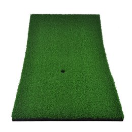 Wholesale Indoor Golf Training - Wholesale- 60cm x 30cm Golf Mat PGM Indoor Backyard Golf Mat Training Hitting Pad Practice Rubber Tee Holder Grass Mat Grassroots Green