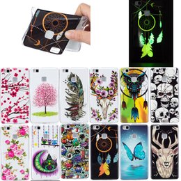 Wholesale Skin Back Cover Luminous Glow - Fashion Design Luminous Glow in the darkness Soft Silicone IMD TPU Case For Huawei P9 lite P9lite Fundas Back Cover Skin Phone cases