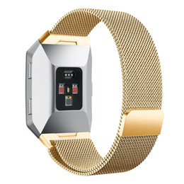 Wholesale Ionic Magnetic Bracelets - New watch band Magnetic Milanese Loop Stainless Steel Magnet Lock Band For Fitbit Ionic