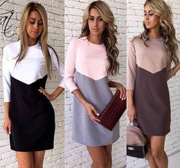 Wholesale Bohemian Style Clothing For Women - New Arrival Hot Selling Dresses for Women Clothes Fashion 2017 Long Sleeve Autumn Casual Loose O Neck T-Shirt Plus Size Dress