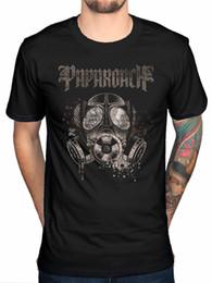 Wholesale Army Gas - 2017 Newest Men'S Papa Roach Gas Mask T Shirt Rock Band F.E.A.R Jacoby Shaddix Infest Men'S Short Sleeve T Shirt Popular Tops
