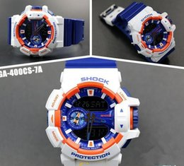 Wholesale Dropship Factory - Factory Autolight Water resistant ga400 sports watches LED g 400 multifunction Time Zones watch Original Box Dive Relogio Masculino DropShip