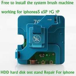 Wholesale Motherboard Testing - Latest HDD hard disk test stand Repair for iphone 6s 6sp 7 7p plus NAND Flash Memory CHIP IC Motherboard fixture Tester