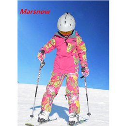 Wholesale Brand Children S Sports Suit - Wholesale- -30 Degree Marsnow Brand Winter Boy Girls Skiing Suits Set Snowboarding Suits Children Sport Ski Suit Collar Zipper Girl Outwear