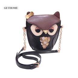 Wholesale Owl Fox Bag Handbag - Wholesale- 2016 Cute Fashion Vintage Women PU Leather Handbag Cartoon Bag Owl Fox Shoulder Bags Women Messenger Bags As a Gift For Friend
