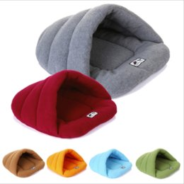 Wholesale High Cat Beds - Winter Warm Slippers Style Dog Bed Pet Dog House Lovely Soft Suitable Cat Dog Bed House for Pets Cushion High Quality Products