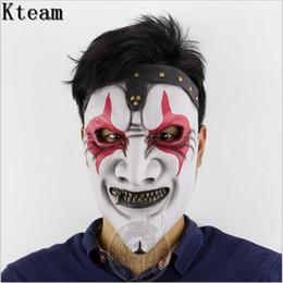 2019 slipknot gesichtsmasken Monster Adult Latex Vollkopf Gesicht Atmungs Halloween Maske Kostüm Party maske Horror Slipknot Maske Cosplay spielzeug Freie größe günstig slipknot gesichtsmasken