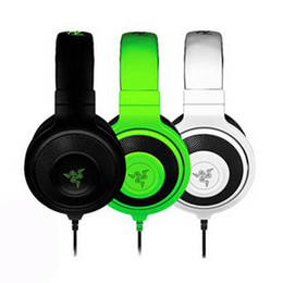 Wholesale Most Popular Headphones - Best Quality 3.5mm Razer Kraken Pro Gaming Headset with Wire control headphones in BOX for IOS Android most popular earphone without package
