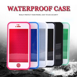 Wholesale Silicone Seals Wholesale - 100% Sealed Waterproof Full Body Coverage Diving Under Water Protection Soft TPU Cover Case For iPhone 7 Plus 6 6S 5 5S Samsung S7 MOQ:10pcs
