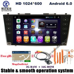 Wholesale Dvd Player For Toyota Camry - Quad core Android 6.0 HD 9inch Car DVD radio For Toyota Camry 40 2006-2011 with 3G 4G Wifi GPS BT