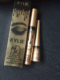 Wholesale Eyeliner Tubes - Hot products kylie gold new mascara + Eyeliner 2 sets of metal aluminum tube super good quality slim thick spot.