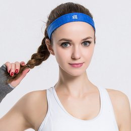 Wholesale Hair Scarves For Men - Wholesale-Elastic Nylon Sports Sweatband Headbands Scarf Yoga Running Fitness For Men and Women Breathable absorbent Hairbands Wholesale