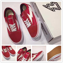 Wholesale Mens Sneaker Wholesale - With Box 2017 New Revenge X Storm Black Casual Shoes Best Footwear Ian Connor Old Ckool Mens Womens Fashion Current Sneakers Summer Shoes