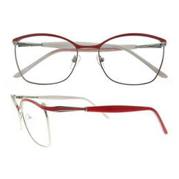 Wholesale Vintage Metal Springs - New arrival eyewear frame for business men women metal decoration spring hinge prescription designer eyeglasses frame