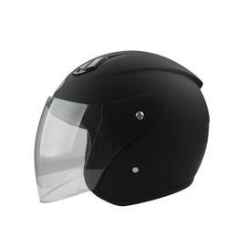 Wholesale Black Car Light Fog - Electric car helmet men and women summer sunscreen motorcycle helmet men four seasons fog half covered light helmet