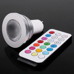 Canada 5W E27 E14 MR16 GU10 RVB LED Ampoule 16 Couleur Changement de Lampe Projecteur Offre